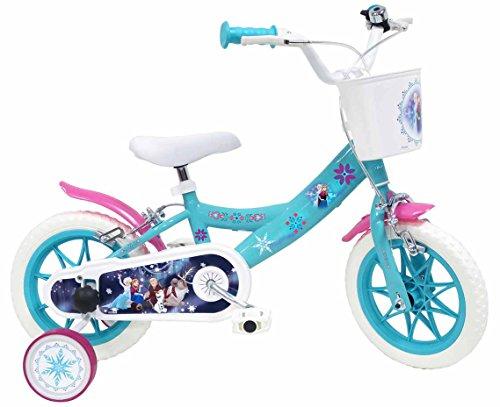Bicicletta DISNEY FROZEN per bambini di 3-5 anni, Blu, Ruote 30,5 cm (12')