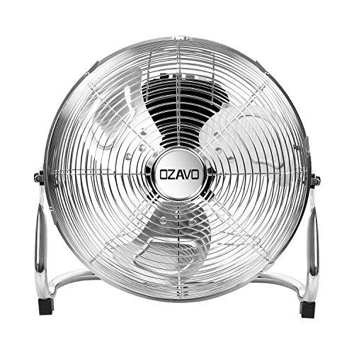 OZAVO Ventilatore da Pavimento, Macchina del Vento, Ventilatore da 35/45/50cm - 3-Livelli di Potenza - Ventilatore da Tavolo 50/80/100W Potenza (35CM)