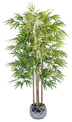 Bambù artificiale di canne naturali, ideale per la decorazione domestica, albero artificiale, pianta artificiale (150 cm)