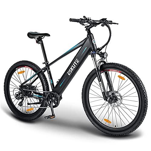ESKUTE Bici Elettrica MTB Elettrica 27,5' Voyager con Batteria Rimovibile al Litio 36V 12.5Ah, E-bike Pedalata Assisitita, 250W Motore, Shimano a 7 Velocità, Amico Affidabile per Esplolare