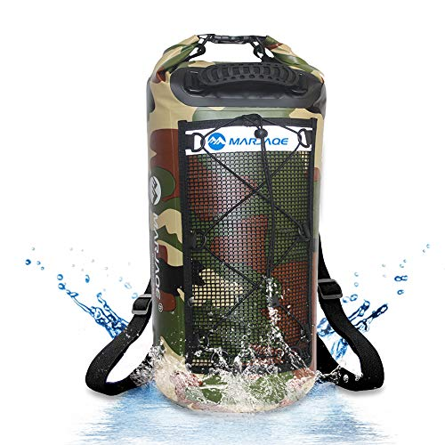 Zwini Borsa Impermeabile 25L Waterproof Dry Bag Zaino Sacca Stagna con Doppia Tracolla per Nuoto Kayak Canottaggio Pesca Viaggiare in Bicicletta Spiaggia