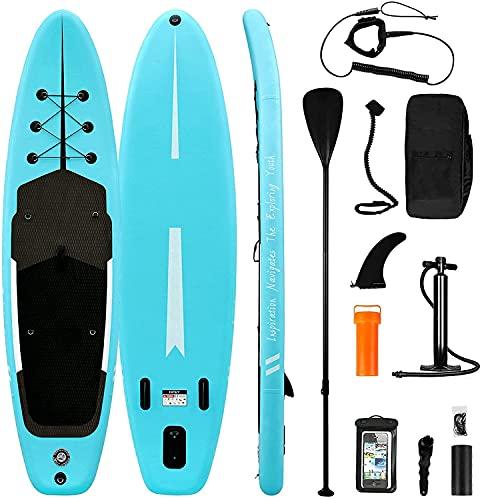 SUP Stand Up Paddle Board gonfiabile per adulti e bambini, accessori completi, pagaia in alluminio ad alta pressione, kit di riparazione zaino da surf, 335 / 320 cm