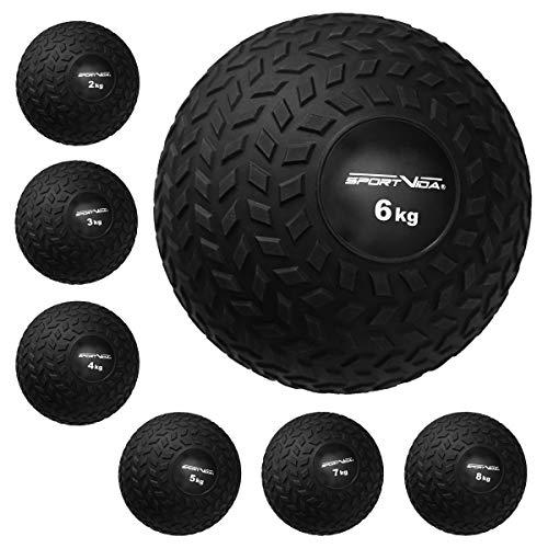 Slam Ball - Palla medica in gomma, peso 2 – 8 kg, con superficie antiscivolo, diametro 23 cm, per allenamento sportivo (7 kg)