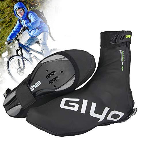 Copriscarpe Ciclismo, Impermeabili Riutilizzabili Ciclismo Overshoes con Design Riflettente per Uomo Donna, Bici Strada MTB Mountain Bike Accessori per Ciclismo (3XL)