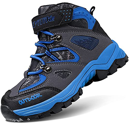 Scarpe da Escursionismo Stivali da Neve Scarpe da Trekking Calzature da escursionismo Unisex – Bambino(B blu,38 EU)