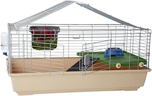 Amazon Basics - Gabbia/habitat per piccoli animali, con accessori - 104 x 21.5 x 57 cm, Grande