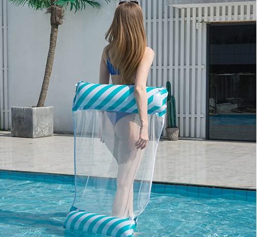 Queta Materassino gonfiabile per piscina, materassino gonfiabile per piscina, materassino gonfiabile per piscina, materassino galleggiante galleggiante per piscina da spiaggia per adulti (Style2 blu)