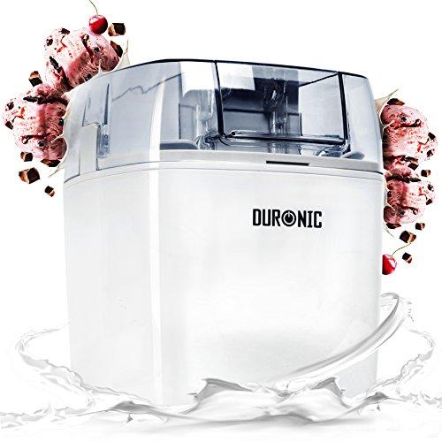 Duronic IM540 Macchina per gelati 1,5 L gelatiera ad accumulo 30 W per sorbetti Frozen yogurt gelato artigianale fatto in casa