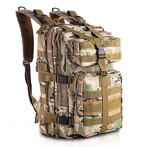 SHANNA Zaino Militare, Zaino tattico Zaino Militare 35L Molle Pack d'assalto Zaino tattico da Combattimento per Escursioni all'aperto Campeggio Trekking Pesca Caccia (CP Camouflage)