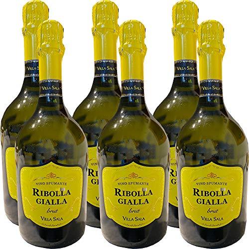 Vino Spumante Ribolla Gialla | Villa Sala | 6 Bottiglie 75Cl | Bollicine Italiane | Veneto | Idea Regalo