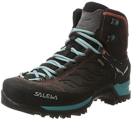 Salewa WS Mountain Trainer Mid Gore-TEX Scarponi da trekking e da escursionismo, Magnet/Viridian Green, 40.5 EU
