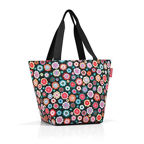 Reisenthel shopper M Borsa da spiaggia, 51 cm, 15 liters, Multicolore (Happy Flowers), (ZS7048)