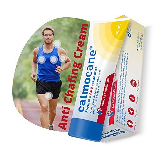 Calmocane - Crema anti-sfregamento e anti-attrito, previene sfregamenti sulle cosce, piedi ascelle, capezzoli, allevia le irritazioni prodotto in sport ciclismo corsa palestra - 50 ml