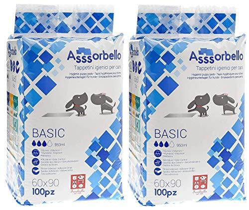 giordanoshop 2 Confezioni Tappetini Igienici 60x90 cm per Cani Ferribiella Assorbello Basic 100pz