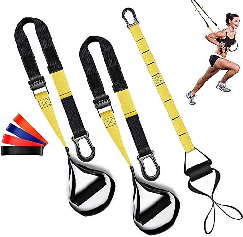 Suspensione Trainer con Ancoraggio per Porta, Sospensione Fitness Regolabile, Set di Allenamento per Imbracatura per l'allenamento Muscolare, la Riabilitazione e l'allenamento di Tutto il Corpo