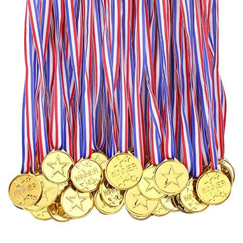 100 medaglie per bambini vincitori, medaglie di plastica, premi per la scuola, giornata dello sport o mini eventi olimpici