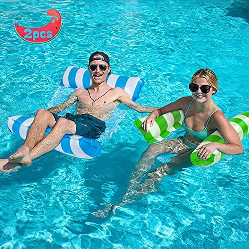 YLSCI Amaca Gonfiabile, piscina gonfiabile, Set di 2 materassino mare, 4 in 1 Letto Galleggiante Gonfiabile