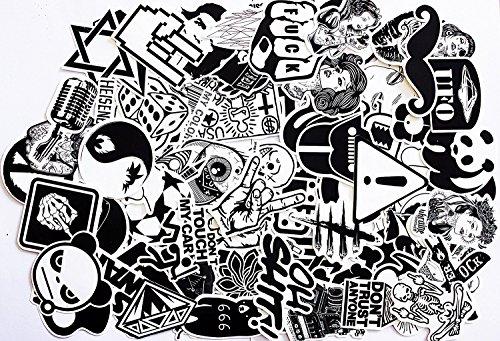 Modou 120 Adesivi in Vinile Sticker Perfetti per Laptop, Skateboard, valigie, Auto, paraurti, Bici, Moto, Casco, Finestra, Chitarra, Cellulare…
