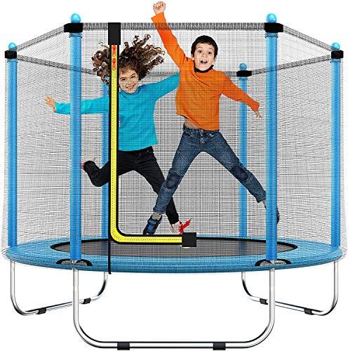 Trampolino da 60' per bambini – 5 Ft/150 cm per interni o esterni, mini toddler trampolino, con attrezzatura di sicurezza, regalo per ragazzi e ragazze, per bambini, età 1-8